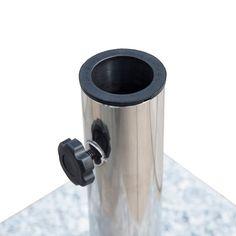 Pied / Base de parasol granite gris poignée et roulettes compatible diamètres 34 / 38 / 48 mm - Outsunny