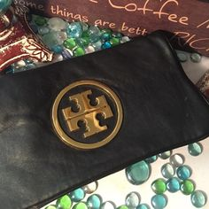 Cute Leather Clutch Bag Sz 12x14- Super soft genuine leather leather- some peeling inside- leather interior- No chain shoulder strap- Leather feels like butter- 2 dissed compartments - Gold hardware- You can dress it up or down with this gorgeous clutch- Very nice! Bags Clutches & Wristlets