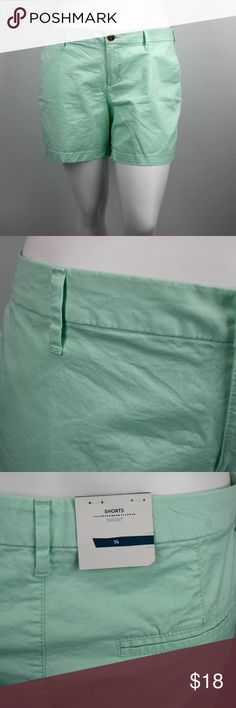 """NWT ON Mint Cotton Shorts - 14 Brand new, never worn mint shorts by Old Navy.  They are 97% cotton and 3% spandex. Machine wash cold, dry low.  They are size 14, and have a 5"""" inseam. Old Navy Shorts"""