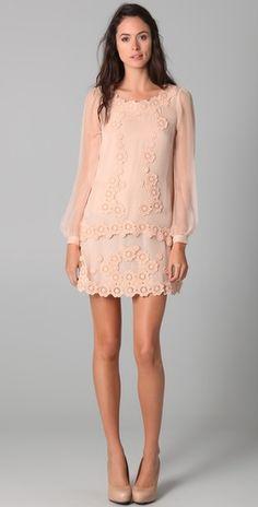 Philosophy di Alberta Ferretti Drop Waist Dress. So romantic and feminine looking.