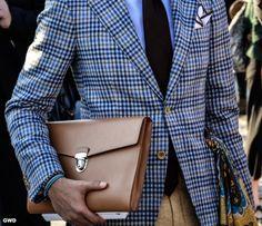 Gentlemen's  Wear  Daily  #Blazer #cuadros #estampado