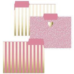 Graphique de France Gold Heart File Folders