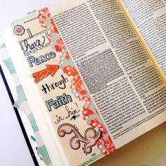 Created by; Laura Hogue McCollough - Bible Journaling, Bible Art Journaling
