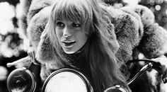 Marianne Faithfull on Motorbike, 1968