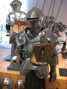 Fine example of Medieval armor in the Musee de L'Armee (museum of the military) in Les Invalides.