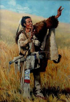 """Wakan Tanka"" 18""x 24"" Oil on canvas -Outstanding Indian Art Native American Art - Native American ArtOriginal Oil Paintings"