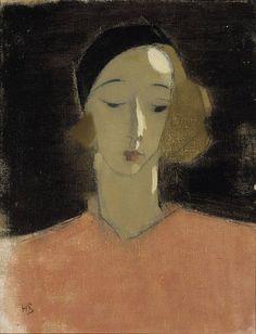 "ollebosse: Helene Schjerfbeck, ""Girl with Beret"", 1935"