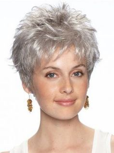 Short Wavy Lace Front Grey Synthetic Cancer Wigs are comfortable, light-weight, soft and natural. Buy our specially crafted wigs for cancer patients or hair loss. SKU:AF04135