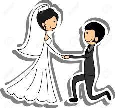 dibujos animados boda foto de la boda la novia y el novio en el