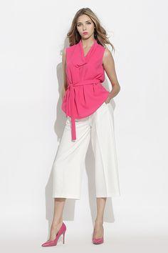 #furelle #springsummer2016 #summer #SS16 #fashion #newarrivals #white #pink #silesiastyle #newcollection #musthave #culottes #whiteculottes #pinkshirt  #woman #highheels #elegant #polishdesigner