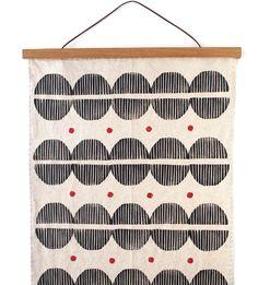 Amanda Bell, Linoleum Block Printing, Modern Tapestries, Red Accents, Japanese Design, Handmade Design, Wood Blocks, Natural Linen, Table Linens