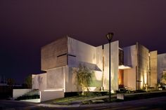 """Residential Architecture: House X by Agraz Arquitectos: """"..mexican practiceagraz arquitectoshave recently finished 'house X' marking their ten year anniversary, and is situated on a corner site,next door to a previously built project which created the opportunity to respond to a dialogue established by the neighboring dwelling.orthogonal slabs of concrete sit parallel and perpendicular to each other, at times exposed as the raw material and at others veneeredin white plaster. the…"""