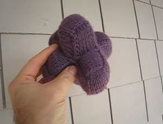 Fuzzy Jay's knitted entrelac baby shape #knitting
