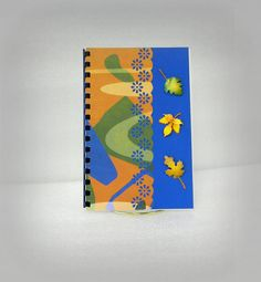 Login and password book with a fall leaf and abstract by GunnySack, $10.00