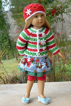 Handmade-Christmas-Holiday-Friends-Outfit-for-Kidz-n-Cats-18-Doll-Clothes