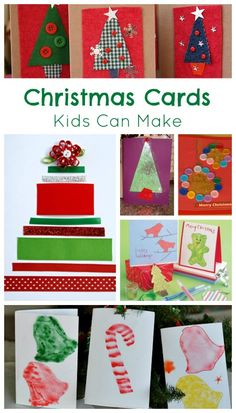 Handmade Christmas Cards that Kids Can Make