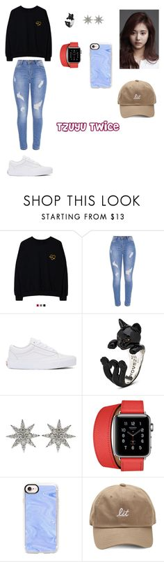 """Tzuyu Twice"" by ciana-si on Polyvore featuring moda, Vans, Bee Goddess, Hermès e Casetify"