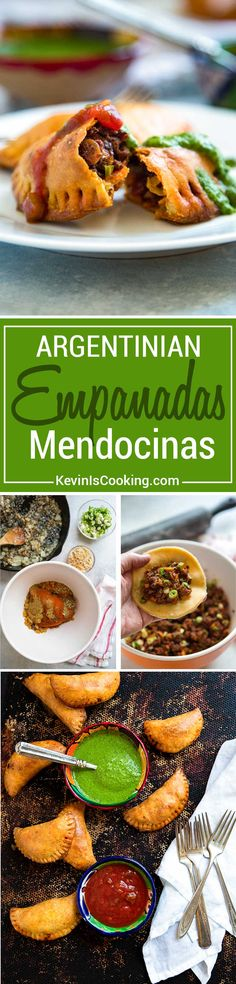 Empanadas Mendocinas are traditional Argentinean baked empanadas filled with beef, onions, warm spices, hard-boiled egg and olives. Dough recipe included! via @keviniscooking