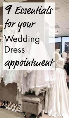 Check out these 9 essential tips to stress free wedding dress shopping!