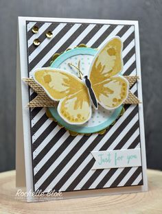 SU! Butterfly & Stripes Card