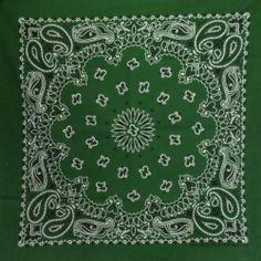"Hunter Green Paisley 22"" Bandana 100% Cotton Made in USA Work Fun Redneck Biker   eBay twistedpeace"