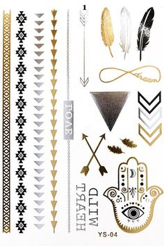 The Flash Metallic Flash Tattoos