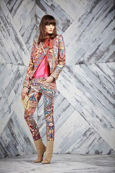 Just Cavalli - Pre - Jacobean/paisley/tapestry colour blocks