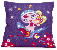 Flamingo Fairy Cushion This colourful and vibrant flamingo fairy cushion is a wonderful and bright addition to any child's room. It's a great bed decoration in the day, and a comfortable cushion at night! http://www.coolkidsrooms.co.uk/#!product/prd1/933968024/flamingo-fairy-cushion