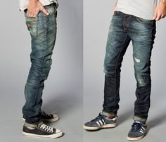 Nudie Jeans 2013 Spring Summer Mens Capsule Collection - Brilliant Blues - Denim Button Down Shirts & Raw Dry Rigid Organic Denim Jeans: Designer Denim Jeans Fashion: Season Collections, Runways, Lookbooks and Linesheets