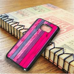 Wood Texture Pink Color Samsung Galaxy S6 Edge Plus Case