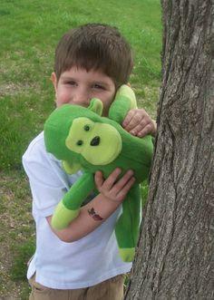 Green Stuffed Monkey Toy by bynichole on Etsy, $20.00