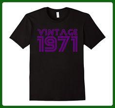 Mens Cool Retro Vintage 1971 Birthday Birth Year Groovy TShirt Small Black - Retro shirts (*Amazon Partner-Link)