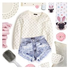 """""""Semi-sweet? No, double sugar."""" by pastelneon ❤ liked on Polyvore featuring abcDNA, Kent, J.Crew, Topshop, Sugar Paper and Kate Spade"""