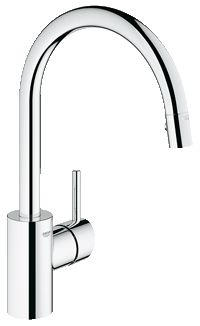 Final selection?  Grohe Concetto Sinle-lever kitchen faucet - SilkMove ceramic Cartridge in supersteel 32665 DC1