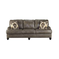 Laurel Foundry Modern Farmhouse Felicia Leather Sofa