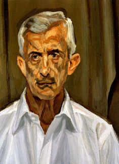 Man in a White Shirt, 2002, Lucian Freud Medium: oil, canvas