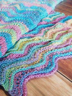 Ripple Rainbow Blanket