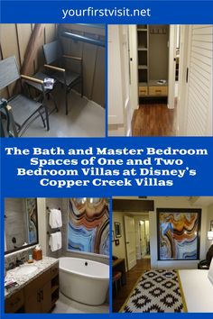 Disney Vacation Club (DVC): Disney's Copper Creek Villas - A Review and Photo Tour of the Bath and Master Bedroom areas from yourfirstvisit.net #DisneyVacation Club #DVC #CopperCreekVillas