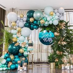 Party Birthday Balloons 51 New Ideas Balloon Backdrop, Balloon Garland, Balloon Decorations, Baby Shower Decorations, 40th Birthday Parties, Birthday Party Decorations, Green Party Decorations, 40th Birthday Balloons, Birthday Ideas