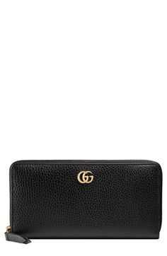 be6a3655788 Free shipping and returns on Gucci Petite Marmont Leather Zip Around Wallet  at Nordstrom.com