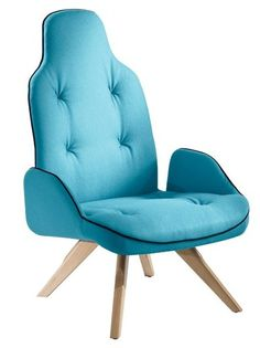Upholstered #armchair with armrests BETIBÙ by CHAIRS  MORE #colour #blue @chairsandmore
