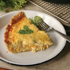 This quiche combines sweet corn and cheddar cheese for a delicious flavor.data-pin-do=