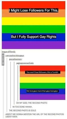 I completely support Gay rights! xx