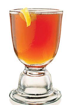 Brandy Crusta - cognac, orange liqueur, lemon juice, simple syrup, whiskey or angostura bitters, lemon peel