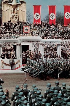 This is a photo of the nazi party honouring hitler for his birthday. It is credible because it shows many soldiers saluting hitler. This changed the worlds identity because hitler has caused lots of devastation around the world World History, World War Ii, Ww2 History, History Photos, The Third Reich, Interesting History, Military History, 50th Birthday, Historical Photos
