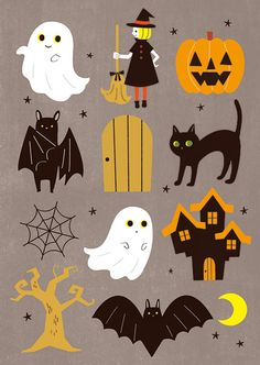 Image de bat, ghost, and Halloween Bonbon Halloween, Halloween Rocks, Fete Halloween, Halloween Clipart, Halloween Drawings, Halloween Prints, Halloween Stickers, Halloween Crafts For Kids, Halloween Pictures