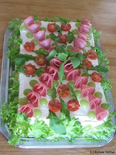 Appetizer Buffet, Appetizers, Sandwich Cake, Sandwiches, Relish Trays, Food Decoration, Wine Parties, Food Design, Cheesecakes