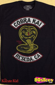 Cobra Kai Patch Karate Kid T-Shirt: Karate Kid Mens T-Shirt   Karate Kid Geeks:   Enjoy the comfort of home or travel the great outdoors in this men's style shirt that has been designed and illustrated with great art.