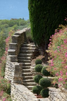 Gordes -Vaucluse- Haute Provence, Aix En Provence, Provence France, House Property, Stair Steps, Beaux Villages, House On The Rock, Lavender Fields, Rhone