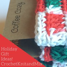 This is a great Stocking Stuffer idea or holiday teachers or family unique gift idea. This Christmas Holiday give eco friendly Cup Sleeves. These are handmade by me. The Crochet Coffee Sleeves are reusable and the yarn is 100% cotton in festive, beautiful holiday colors.  These beautiful versatile sleeves could also be used as candle base decorations. These cup sleeves are made with a yarn with white, red and green holiday season color yarn.  At checkout you may choose quantity you want…